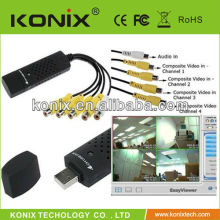 4 ch Video Audio CCTV usb video capture for PC Laptop