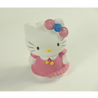 Plastic cat shape coin bank vinyl coin bank money saving case for kids