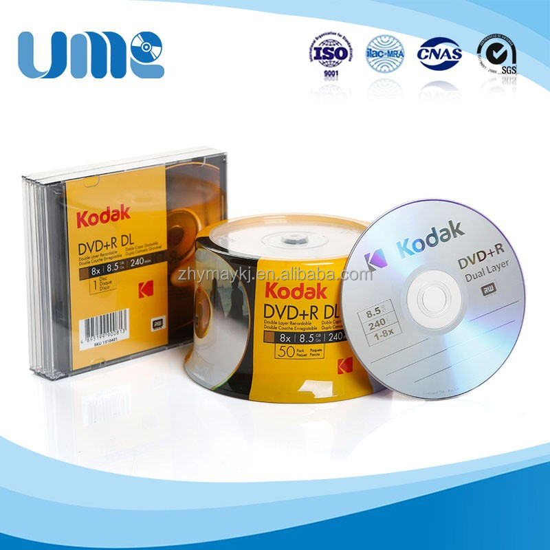 China KODAK Brand Silver <strong>DVD</strong>+<strong>R</strong> DL 8.5GB 8X for <strong>DVD</strong> movies