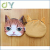 Custom Big Face Adorable Cat Fashion Zipper Coin Wallet Change Purse Coin Purse Bag Women Wallets Novelty Design 3D change purse
