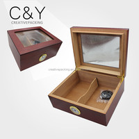 Hot sale luxury matte lacquer wood spanish cedar humidor