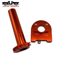 BJ-THS-001 Manufacture alloy orange throttle grip off road motorcycle parts