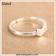 matte finish heart stamp .925 sterling silver heart rings ,Pop cool jewelry in the global for young people,Love theme rings