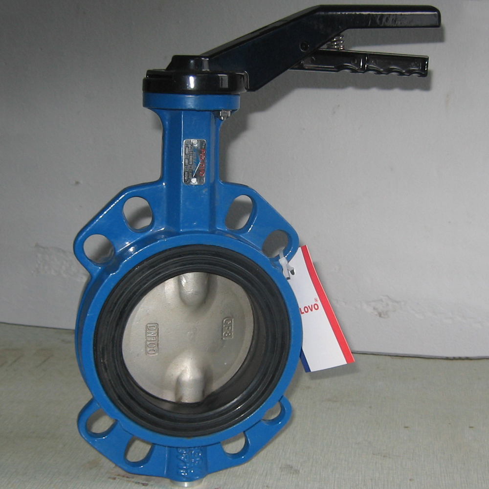 lug type butterfly valve DN250 by wafer connection