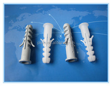 Free sample 6-12mm plastic screw wall plugs for screws
