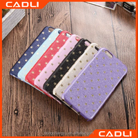 PU Leather Shinning phone case for iphone 6 6s with starry star on back cover