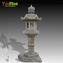 Hand Carved Temple Decorative Stone Japanese Lantern