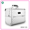 Wholesale professional makeup case well-designed locking aluminum carry bags for large capacity .