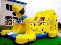 new style kids fleck dog inflatable toy slide