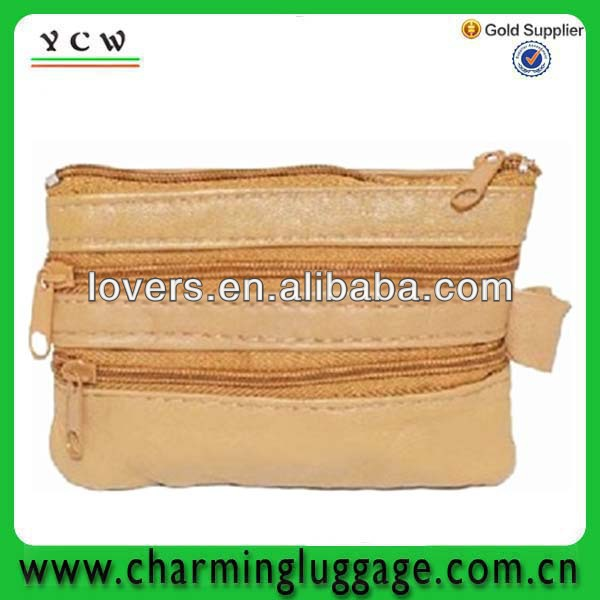 leather fabric coin purse China wholesale zipper coin purse