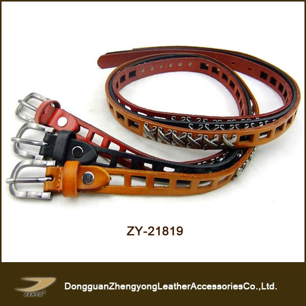 hand tooled western leather belts with metal studded
