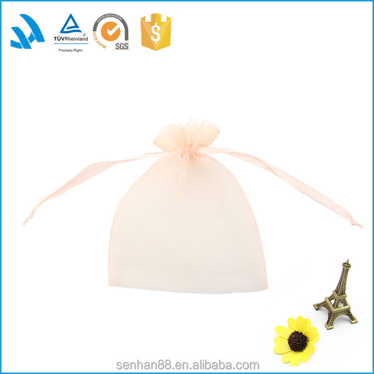Fashion custom made china silk density organza gift bags