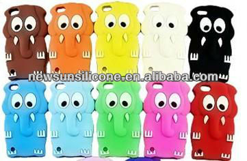 silicone elephant cartoon animal shaped phone case cover for 4/4S/5