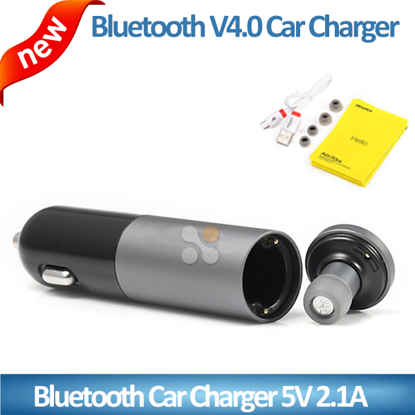 New design OEM high quality dual USB ports car charger with bluetooth headset