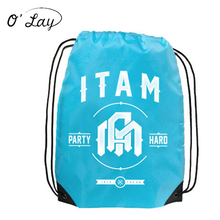 Factory Audit 210T Polyester Promotional Giveaway Drawstring Bags