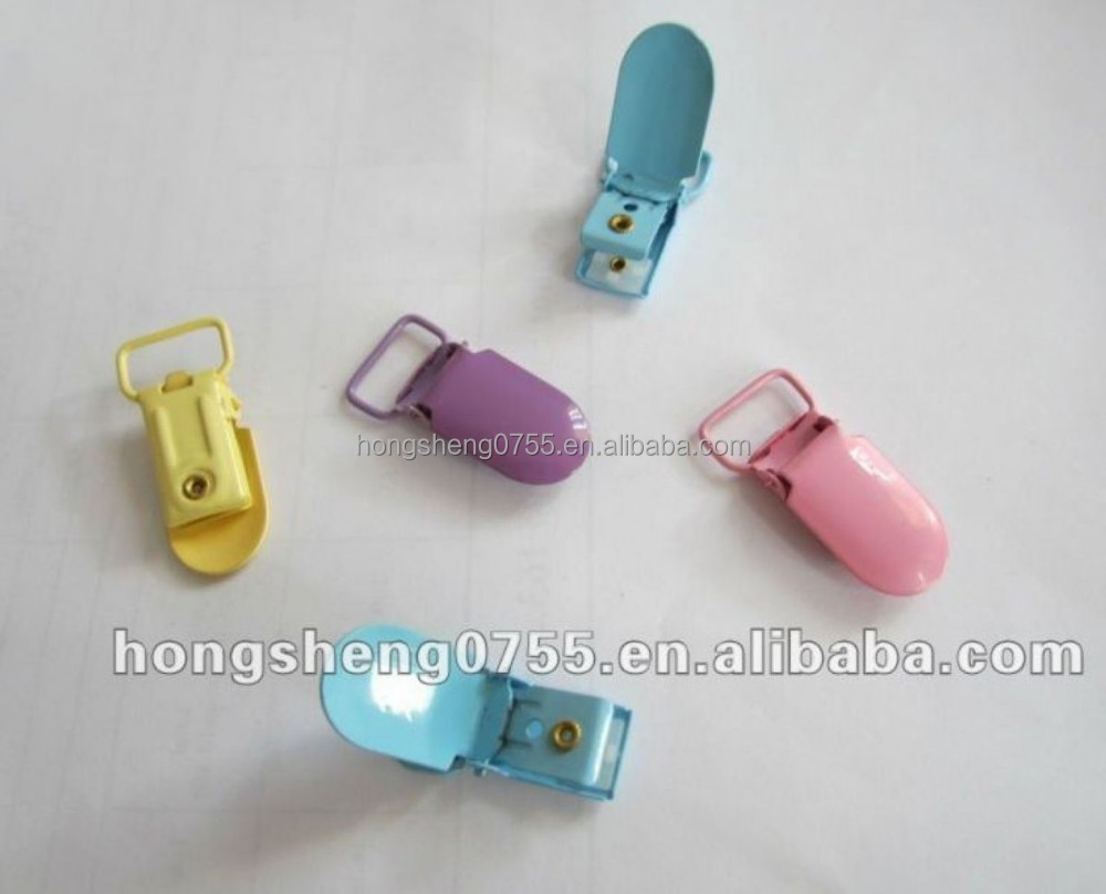 hot sale fashion customized metal garment clip suspender clips