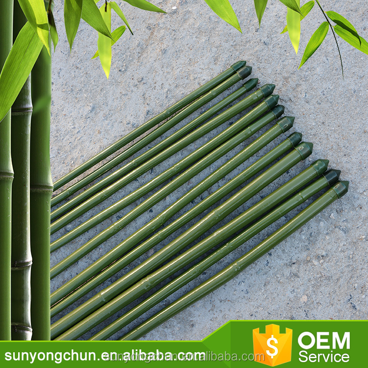 Cheap factory direct supply Agriculture garden PVC Coated pole and Color Bamboo Cane