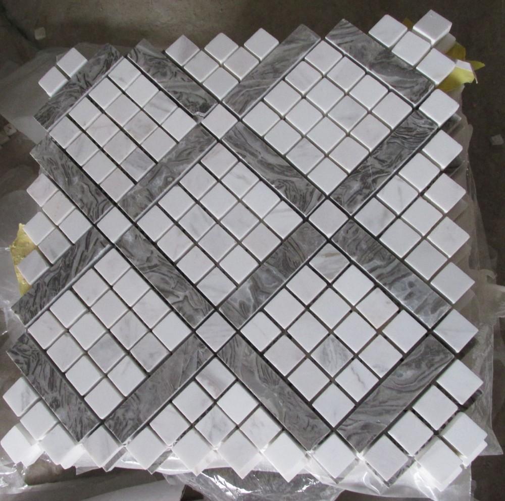 grigio ghiaia mosaico di marmo piastrelle per pavimenti-Mosaico-Id prodotto:6...