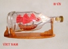VIET NAM SHIP IN HENESSY BOTTLE, NEW NAUTICAL STYLE - HANDMADE SHIP MODEL