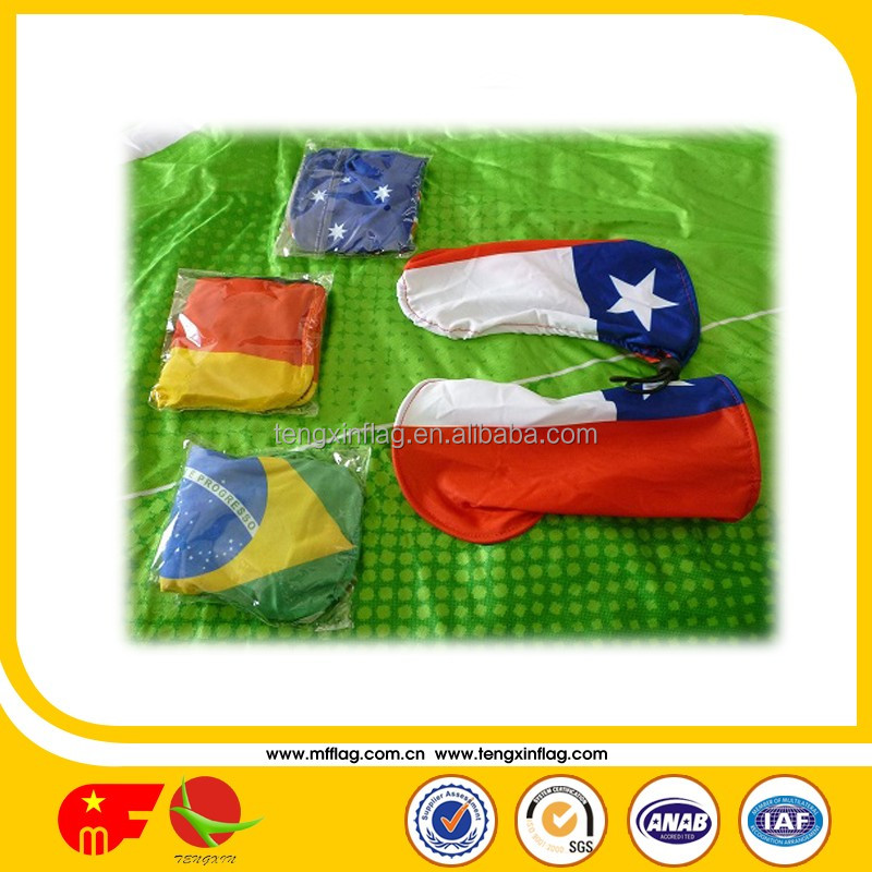 plastic car window hood flag poles