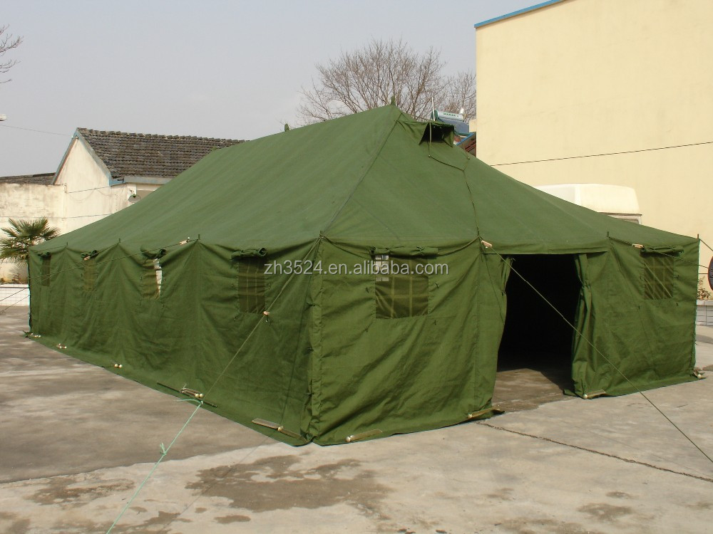 army green color 20 person military tents
