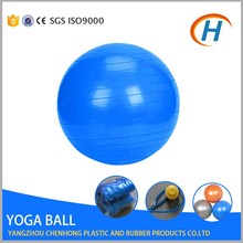 Private label sports equipment exercise ball logo printing , 100cm gym ball with handle