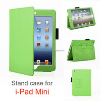 2016 hot wholesale leather case for ipad MINI 1/2/3,colorful and luxury design stand case