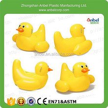 New Funny Summer Pool Water Float Inflatable Jumbo Yellow Duck Floating Toy with Handle