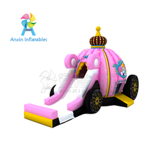 Commercial adult inflatable princess carriage bounce house