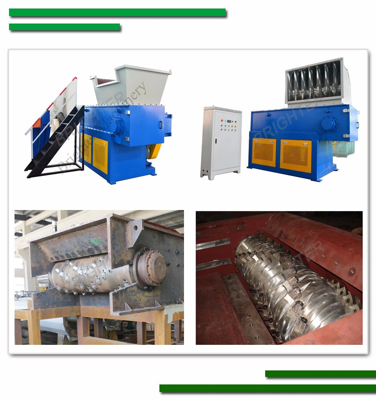 Indutrial plastic recycling single shaft shredder
