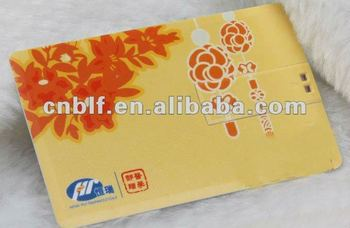 promotional 2g 4g 8g credit card u disk