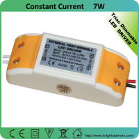 7W triac dimmable led driver 350ma constant current dimmable led strip driver wall plug led driver 350ma