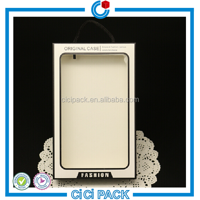 PVC window cellphone case paper packaging box