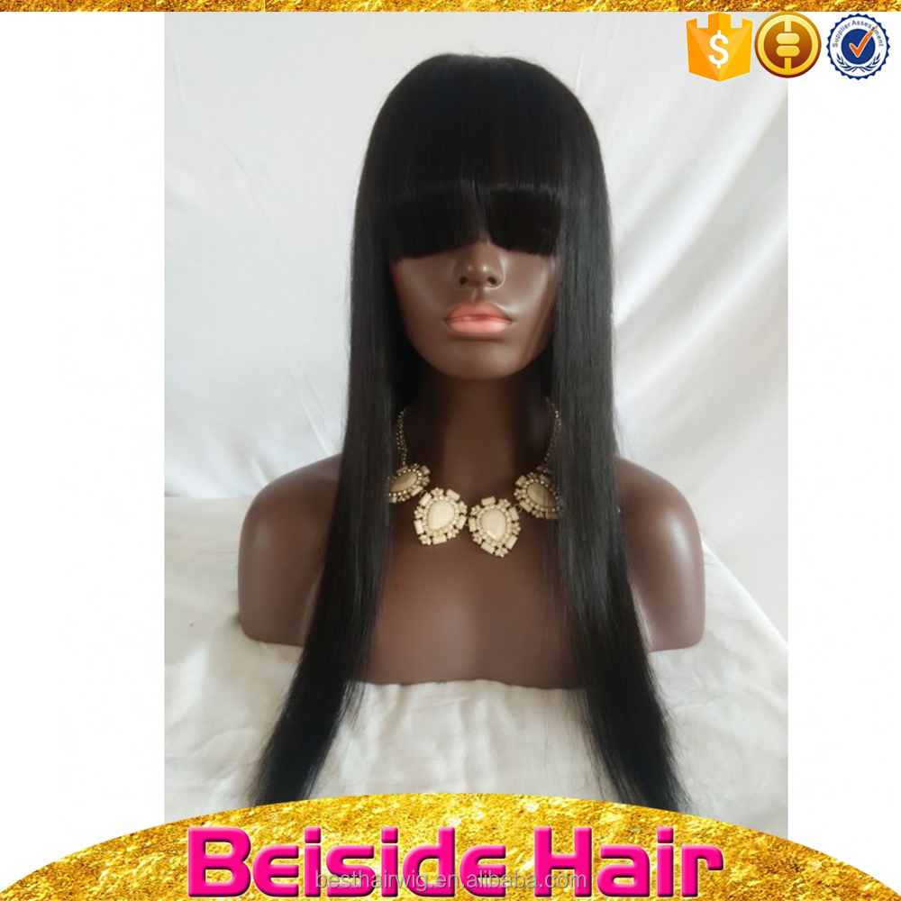 Unprocessed Hair extension human non shedding lace wigs in manila