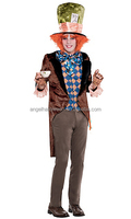 The latest design competitive price halloween mad hatter costume AGM2624