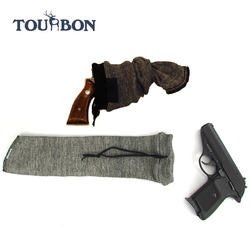 Tourbon hunting accessories gun sock for wholesale cotton knitting pistol handgun sleeve/firearm sock
