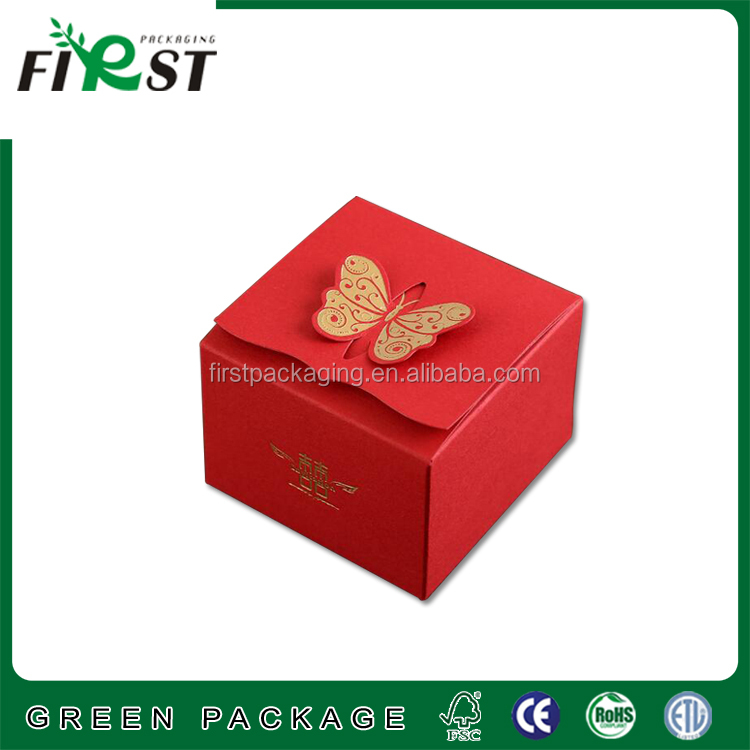 Wedding cake paper making with beautiful printing box/full color Candy Lovely Paper Box Gift Packaging box