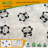 AZ-00580 2014 NEW DESIGN printed cotton gauze fabric