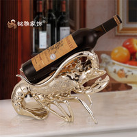 Thanksgiving day gift home decoration lobster artificial wine rack resin animal figurine