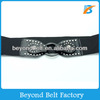 Beyond Black Wide Elastic Stretch Waist Belt with Studs Decor