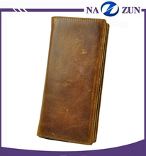 Handmade leather wallet pattern long leather wallet men vintage