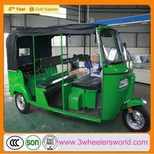CCC&ISO Certification and Motorized Driving Type 200cc CNG&GAS 6-Passenger Bajaj style tricycle tuk tuk auto rickshaw