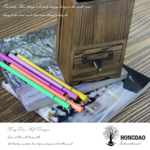 HONGDAO Hot sale Christmas hand-made wooden pen container, wooden brush pot, wooden pen box