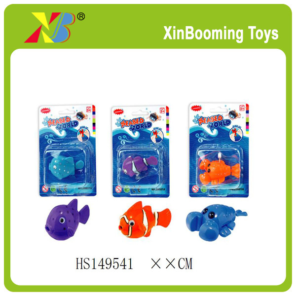 Color& style winding up swimming fish toy