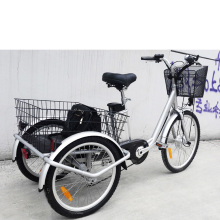 pedals 3 wheel electric tricycle with swing function