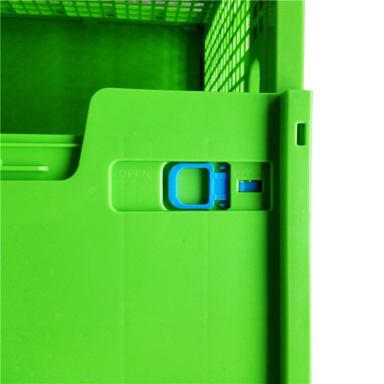 reusable and foldable plastic material perforated storage box