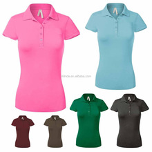 95% cotton 5% spandex short sleeve slim fit polo shirt with embroidered logo
