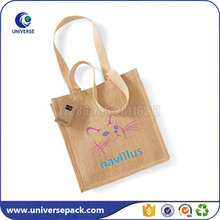Personalised Tote Shopping Natural Jute Grocery Bags With Custom Logo