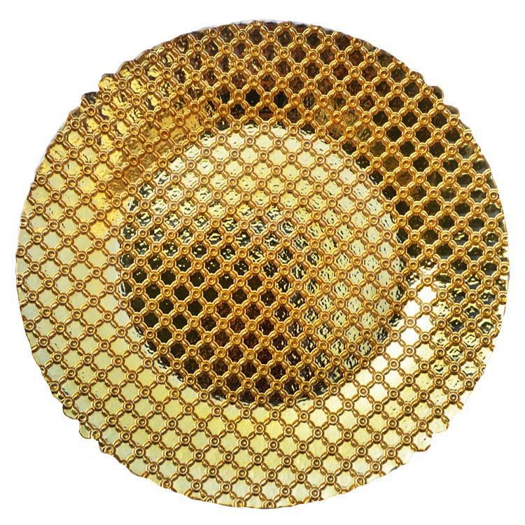 Manufacturer Wholesale Wedding Decoration Gold Charger