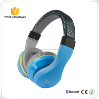 Candy color studio stereo bluetooth headphone wirelss function built in fm radio for mobile